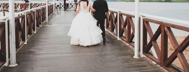 Suknia ślubna  z gorsetem