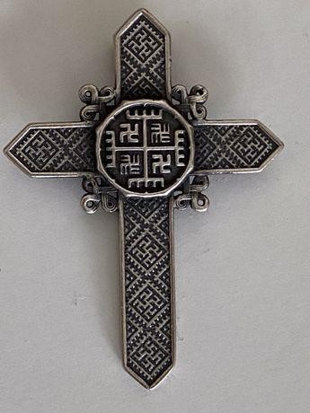 Серебряный крест нательный серебро