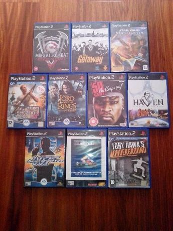 8 Jogos variados Playstation 2 PS2