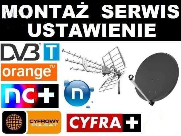 Montaż ustawienie anten satelitarnych i naziemnych Lubicz NAJTANIEJ !