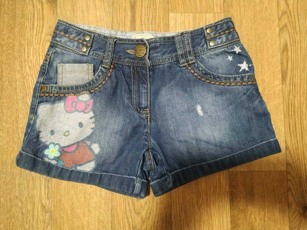 Джинсовые шорты для девочки Next Hello Kitty
