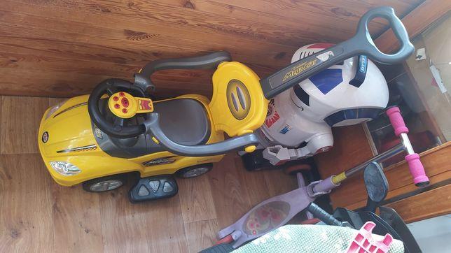 Самокат, толокар, робот на пульте управления, электромобиль