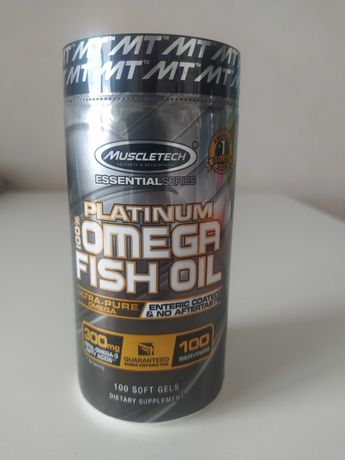 Muscletech, Platinum Omega Fish Oil,  рыбий жир с омега-3 100 мягких