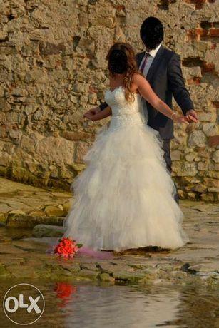 Piękna Waniliowa Suknia Ślubna KIARA r38 NISKA CENA WARTO!!!