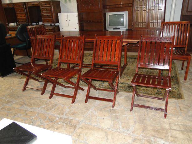Cadeiras de exterior dobráveis - Bom estado geral - Valor unitário