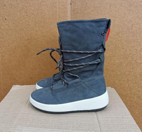 Кожаные демисезонные зимние ботинки сапоги 37 р. ECCO UKIUK 2.0