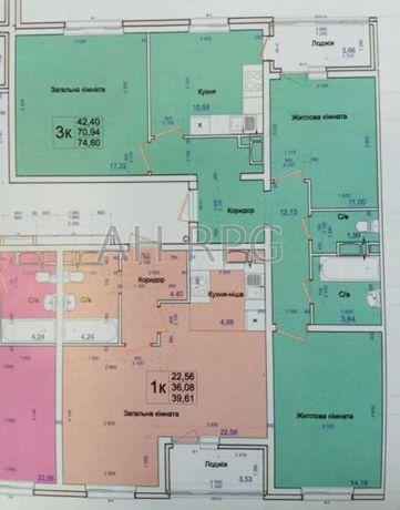 Продам видовую 3ком 75м2 квартиру в  ЖК Одесский бульвар Метро Теремки