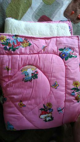 Детское одеяло на овчине