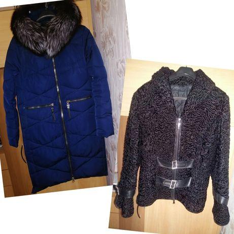 Зимнее пальто с капюшоном,каракулевый полушубок, полушубок натуральный