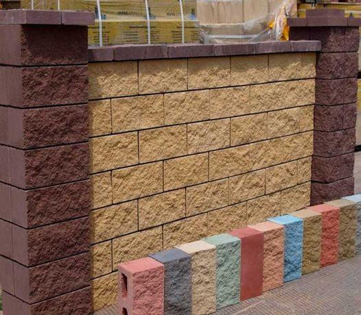 Продам заборный блок декоративный Силта Брик (разные цвета, размеры)