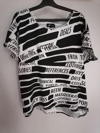 czarno biała koszulka Reserved