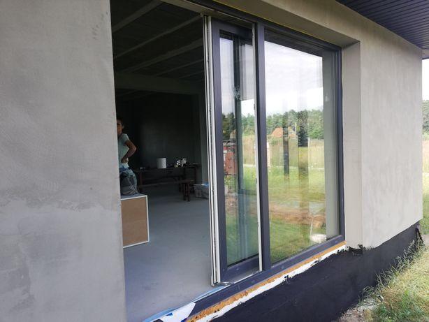 Okno przesuwne tarasowe  2978x2350 antracyt jak nowe