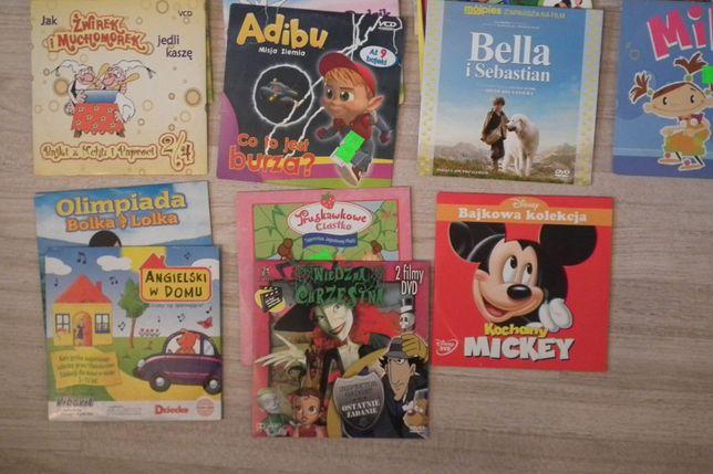 17 płyt VCD i DVD dla dzieci