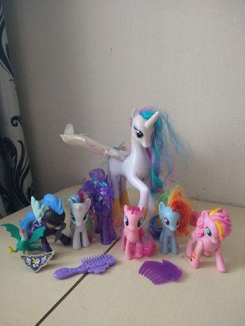Пони my little pony (Селестия, принцесса Луна,Рарити,молния, радуга)