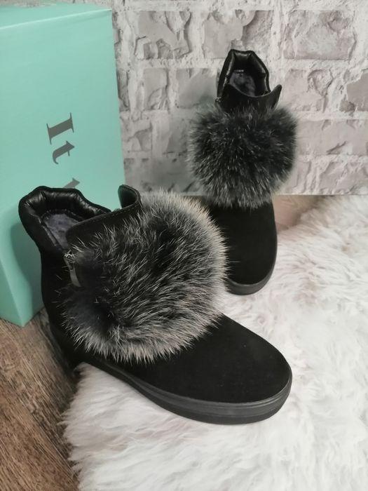Ботинки женские зима, Натуральный замш Полтава - изображение 1