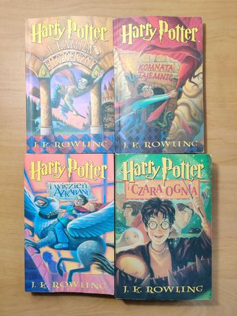 Harry Potter 1-4 / Pierwsze Wydanie / J.K. Rowling