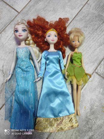Lalki księżniczki Ala barbie, Elza, Merida waleczna, dzwoneczek.