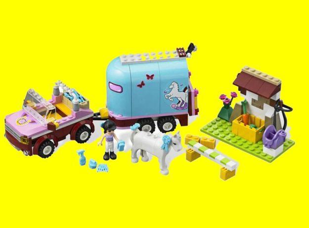 Klocki Friends przyczepa dla konia Emmy jak LEGO