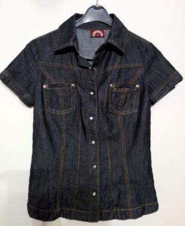 śliczna Dzinsowa koszula S SUBLEVEL