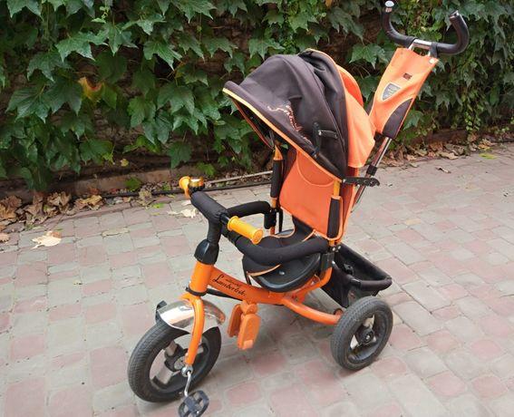 Велосипед трехколесный Azimut Lamborgini оранжевый