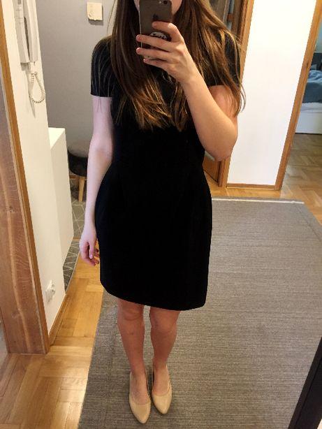 sukienka czarna mała czarna 36 s reserved elegancka