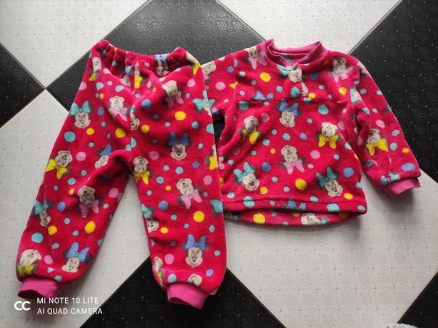 Теплая пижама велсофт махра 1,5-2 года