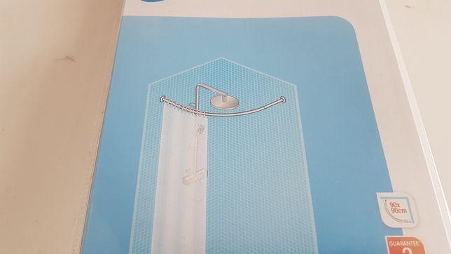 Varão de cortina de duche 1/4 de círculo