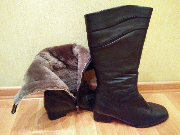 Сапоги зимние кожаные Ara Германия 38 на широкую ногу 300 руб