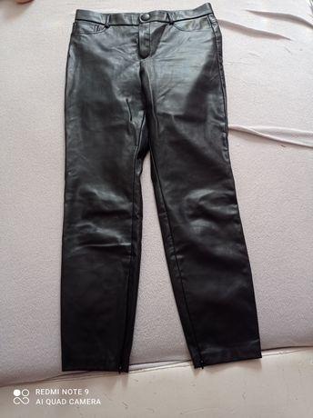 Zara spodnie skórzane