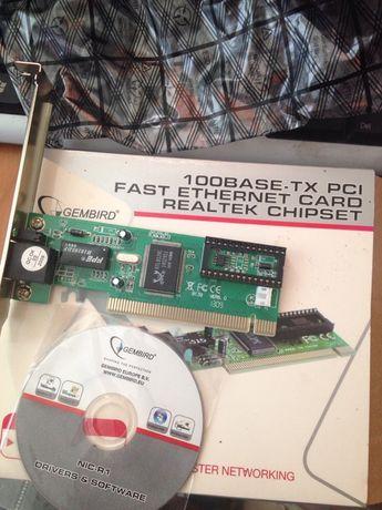 Сетевая карта LAN Gembird 100BASE-TX PCI fast ethernet card Realtek