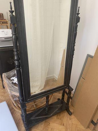 Espelho vertical antigo madeira