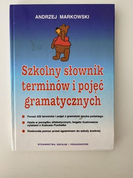 Szkolny slownik terminow i pojec gramatycznych Andrzej Markowski