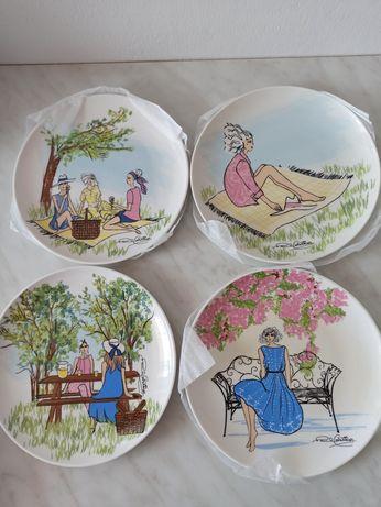 Talerzyki porcelanowe Paula Costelloe