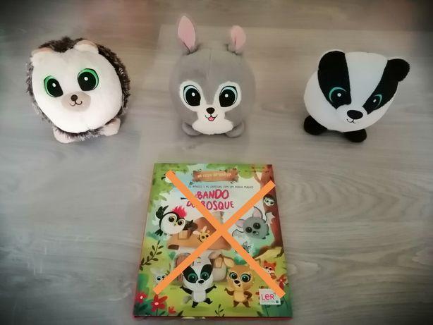 Peluches Bando do Bosque 1 e 2 e livro (Pingo Doce)