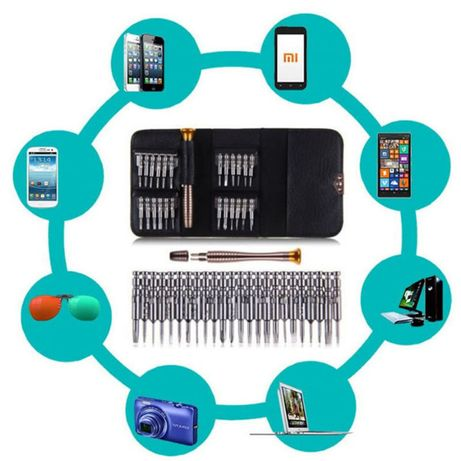 Набор отвёрток для разборки телефонов, планшетов (25 в 1)