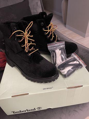 Демисезонные новые ботинки в коллаборации Timberland& Off white