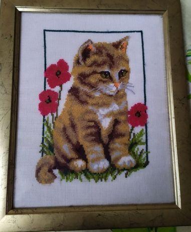 """Картина """"Кіт в маках"""""""