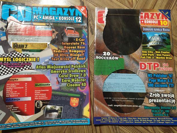 CD Magazyn - nr 10 i 12, 1997 r, płyty CD, PC, Amiga, konsole, unikat!