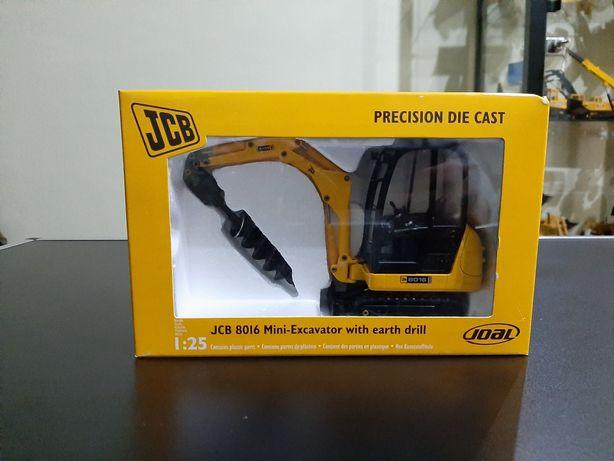 Miniatura JCB 8016 with Earth Drill 1:25 (Joal Ref. 268) NOVA