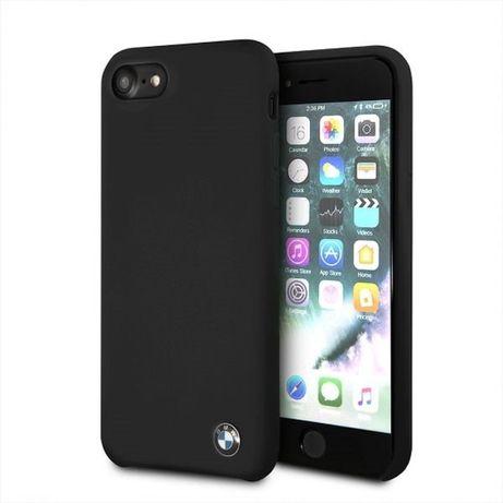 Etui hard case BMW BMHCI8SILBK do iPhone 7/8 czarny/black Silicone
