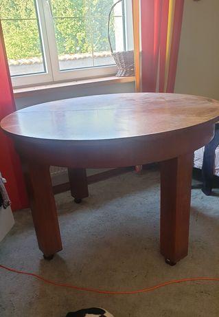 Stół okrągły drewniany styl art deco