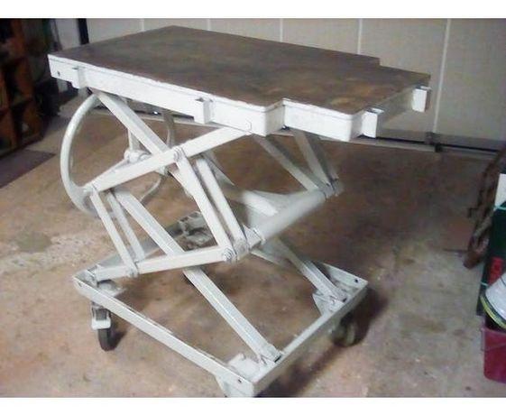 Stół, wózek warsztatowy, podnośnik, mobilny, podnoszony, nożycowy