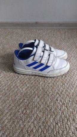 Осенние кроссовки Адидас 33р-21 см, белые кросовки на мальчика липучки