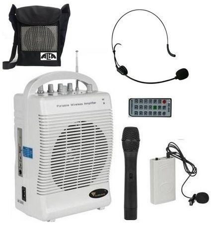 Nagłośnienie przenośne SQ-222, Mikrofony, USB, SD, Akumulator, Radio