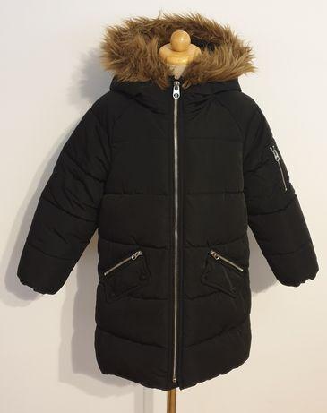 Zara dziewczęca długa zimowa kurtka płaszczyk stan bardzo dobry rozm.