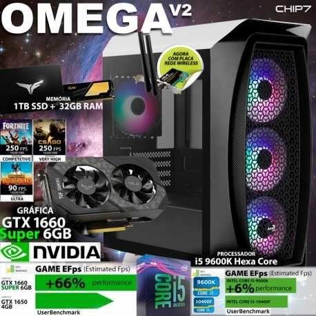 computador OMEGA / I5 9600K  /GTX 1660 SUPER 6GB/ 1Tb / 32GB RAM /600W