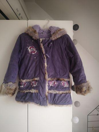 Ciepła zimowa kurtka dziewczęca/kożuszek, George, rozm. 98-104