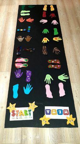 Mata stópki i rączki Edukacja przedszkole szkoła pomoce terapia