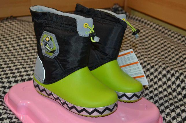 Сапоги Crocs Lights Lodge Point RoboSaur boots