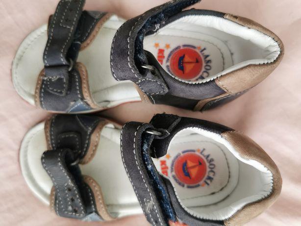 Sandał skórzane Lasocki r 21 wkł 13 do 13,5 cm